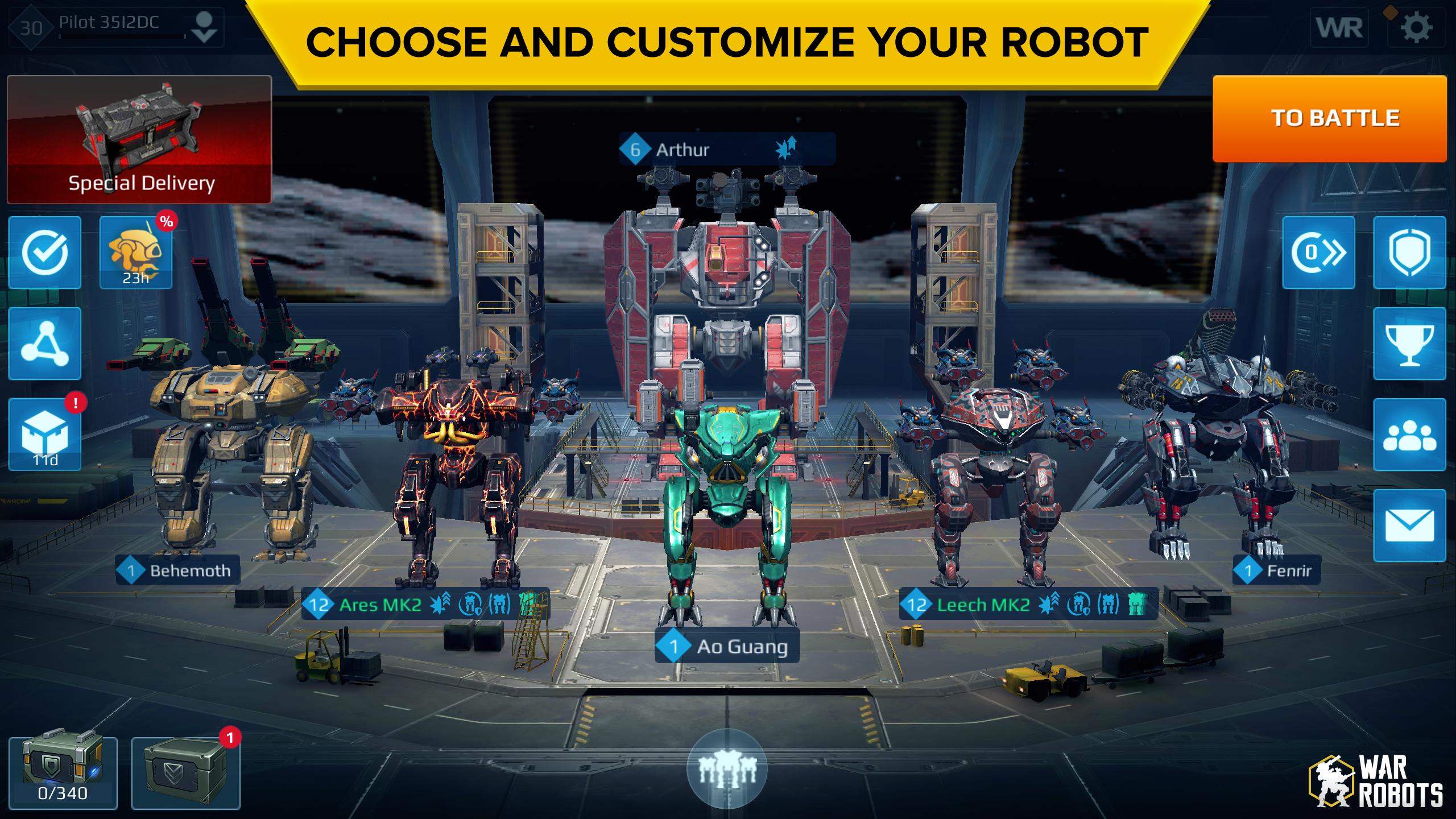 War Robots 6.4.0 APK + Mod + DATA unlimited ammo