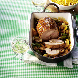 Turkey Thigh Roast with Peppers.