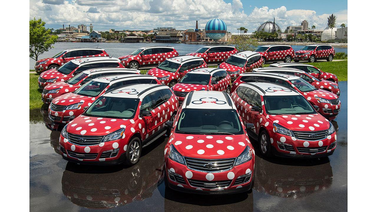 Minnie Vans (a mini van transportation option) at Walt Disney World