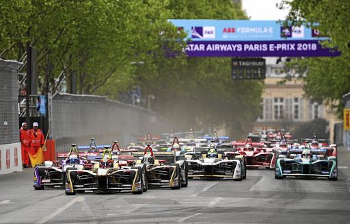 Jean-Eric Vergne stayed ahead of the pack to win the Paris E-Prix from pole position. Picture: ABB FORMULA E