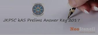 Download JKPSC KAS Prelims Answer Key 2017 & Cut Off