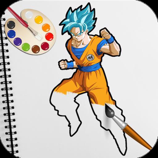 Dragon Goku Saiyan Coloring Book for Kids