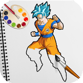 Dragon Goku Saiyan Coloring Book for Kids