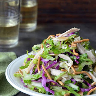 Chinese Chicken Salad with Sesame Dressing.