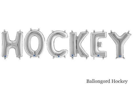 Ballongord - Hockey, silver
