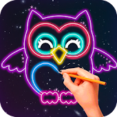 Glow Draw Cartoon Animals