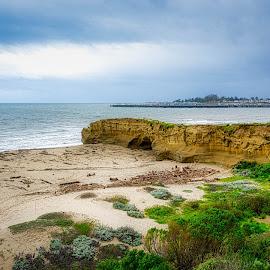 Santa Cruz Coastline by Earl Heister - Landscapes Beaches ( coast, ocean, stormy, beach, sea )