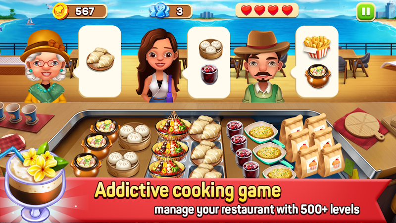 Download Fast Restaurant - Crazy Cooking Chef madness Cheat APK MOD