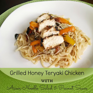 Grilled Honey Teriyaki Chicken & Asian Noodle Salad with Peanut Sauce Recipe