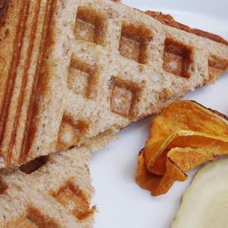 Waffle Iron Grilled Cheese Sandwiches