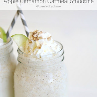 Apple Cinnamon Oatmeal Smoothie.