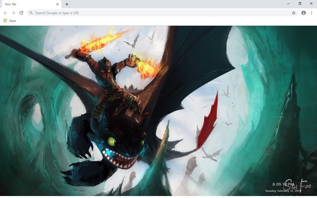 How to Train Your Dragon New Tab Theme