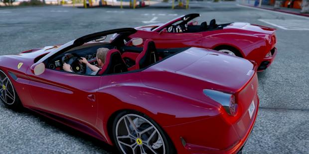 Super Car Real Ferrari Simulator California 3D - náhled
