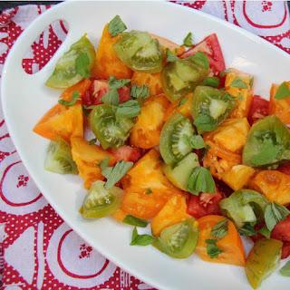 Easy Fresh Tomato Salad.