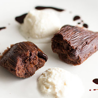 Chocolate Tamales with Port Infused Cherries (Recipe).