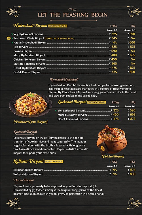 Biryani By Kilo menu 1