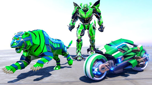 Lion Robot Transform Bike War : Moto Robot Games 1.0.8 screenshots 1