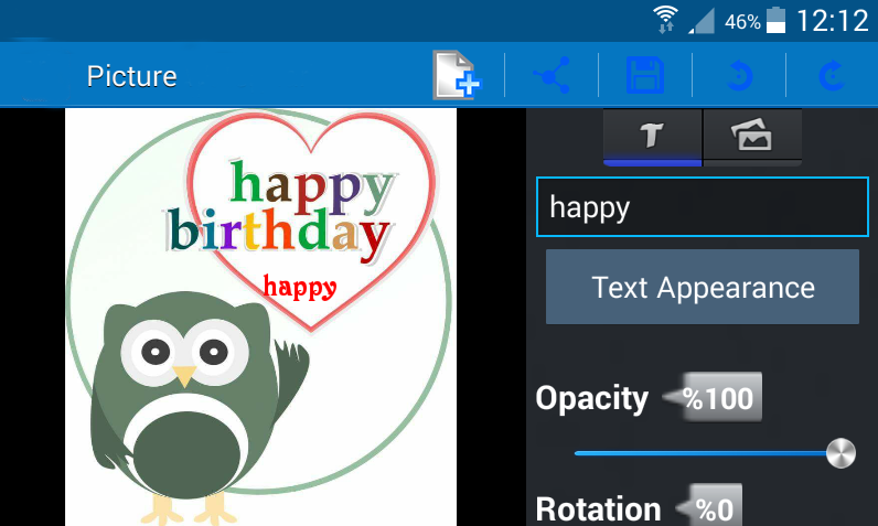android Add text to photo – pro Screenshot 4