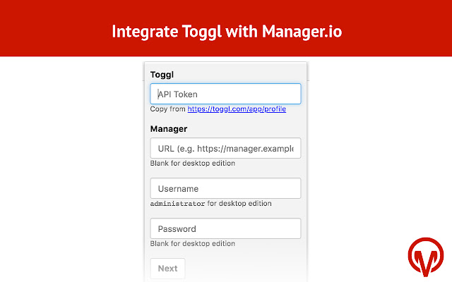 Toggl To Manager.io