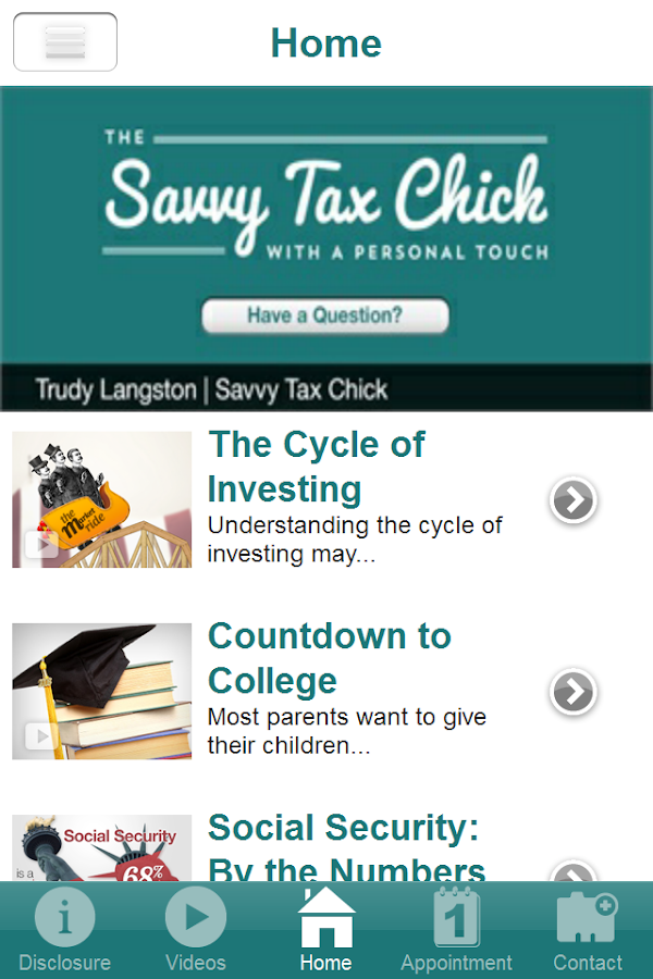 Savvy Tax Chick- screenshot