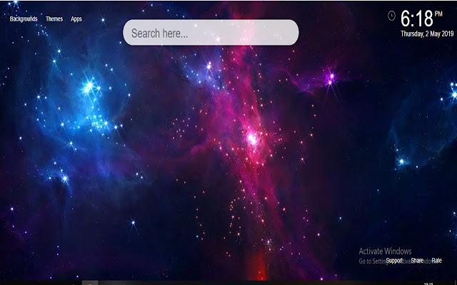 Space Galaxy HD Wallpaper HD New Tab