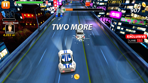 Cars 3D Rush - On the highway - screenshot