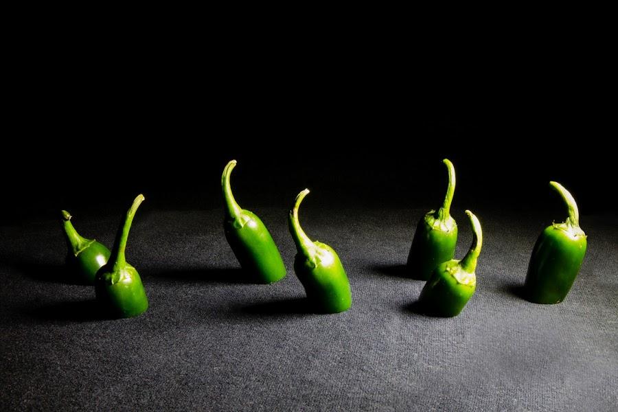 Jalapeño Shadows by Caitlin Lisa - Food & Drink Fruits & Vegetables ( jalapeños, green, pwcvegetables, vegetable, shadows )