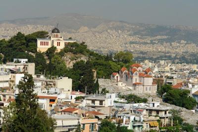 Вид на античную Агору и Афины
