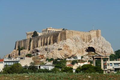 Потрясающий вид на Акрополь