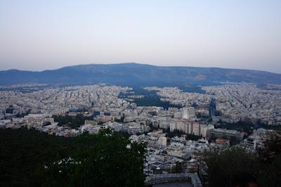 Вид на Афины с вершины Ликабет