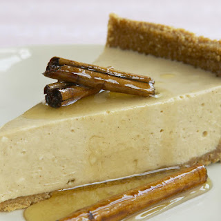 Cinnamon Cheesecake with Honey Syrup