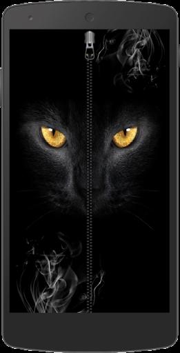 神秘的貓拉鍊鎖屏