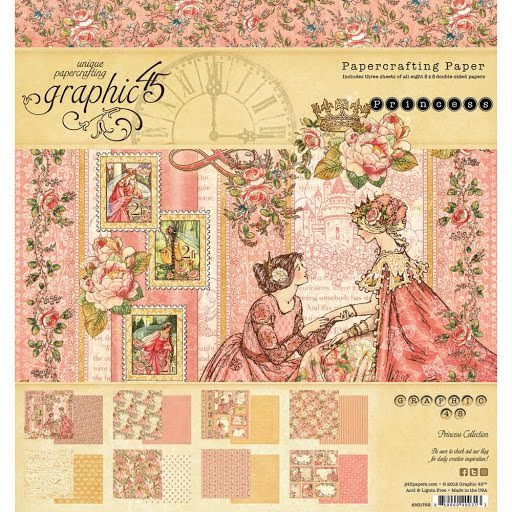 PRE-ORDER 24 Sheets Graphic 45 Elegance 8X8 Double-Sided Paper Pad Dress Form Vintage Paris