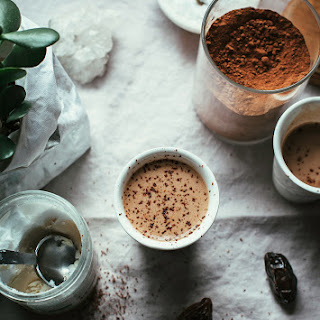 COCONUT BUTTER HOT CHOCOLATE.
