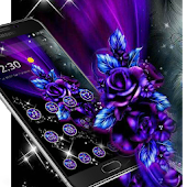 Violet Blue Neon Flower Theme Android APK Download Free By Fantastic Design