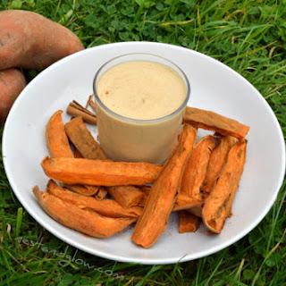 Sweet Potato Cinnamon Chips & Macadamia Vanilla Dip.