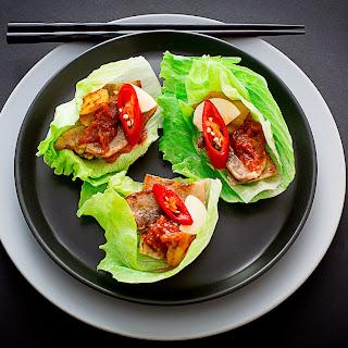 Korean Pork Belly Wrap.