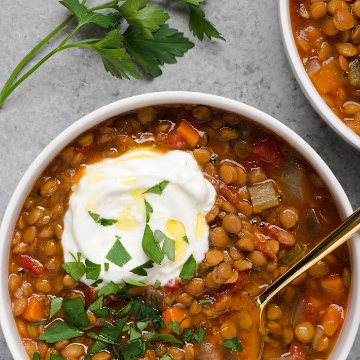 Slow Cooker Easy Lentil Soup