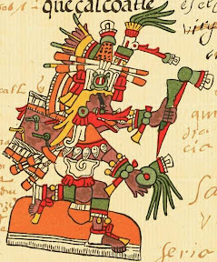 The Aztec God Quetzalcoatl, the Feathered Serpent