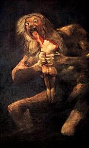 Francisco de Goya (1746-1826): Saturno devorando a un hijo (ca. 1815).