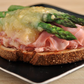 Ham, Asparagus, and Gruyere Open-Faced Sandwich