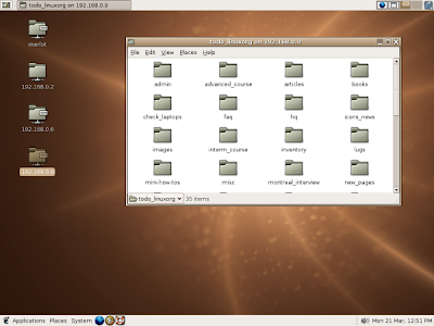 The GNOME desktop environment on Linux.