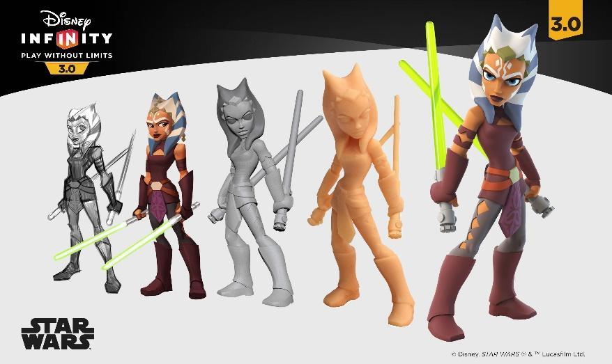 ArtStation - Ahsoka Tano - Disney Infinity 3.0 - Toy Sculpt, Shane Olson