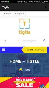 Tigtle Website - náhled