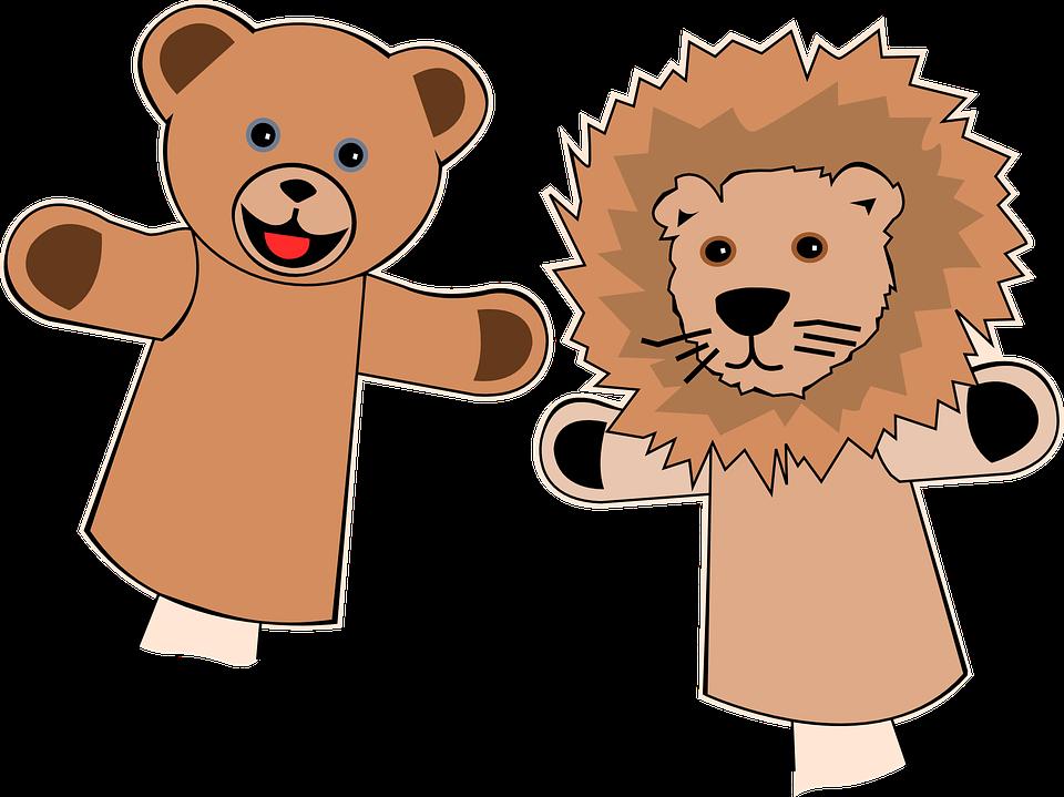 Puppets, Finger, Bear, Lion, ...