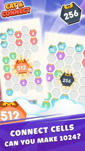 Cat Cell Connect - Merge Number Hexa Blocks 1.0.1 screenshots 2