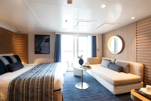 A Deluxe Suite on the Ponant boutique ship Le Laperouse.