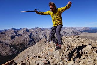 Photo: Landing on the summit.