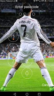 Keypad Lock Screen for C.Ronaldo 7 Free - náhled