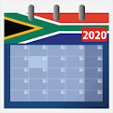 Calendar 2020 South Africa with holidays icon